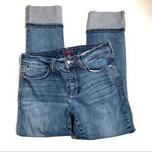 NYDJ   cuffed medium wash ankle skinny jeans